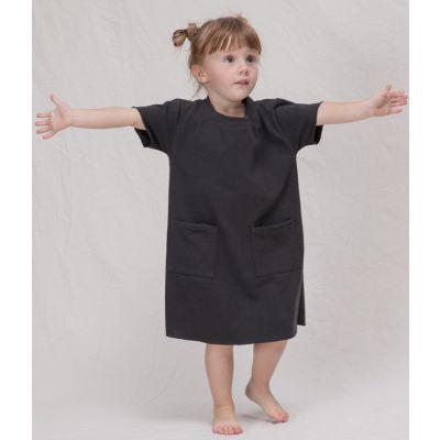 Heavy Cotton T-Shirt Dress Bark by Album di Famiglia