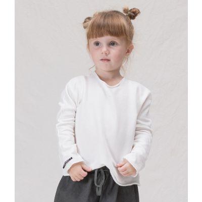 Cotton Pullover Mimma White by Album di Famiglia