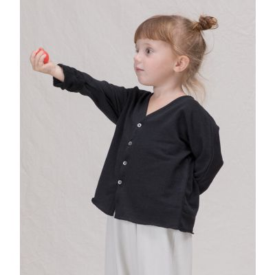 Cotton Cardigan Connie Black by Album di Famiglia