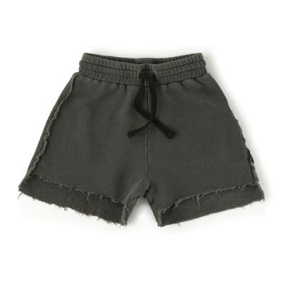 Asymmetric Length Shorts Vintage Grey by nununu