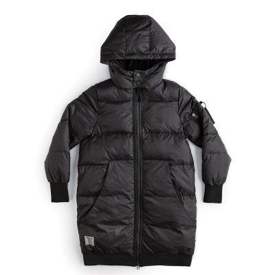 Hooded Down Coat Black by Nununu