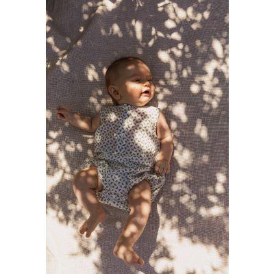 Baby Romper Kumar Teal Triangle Print