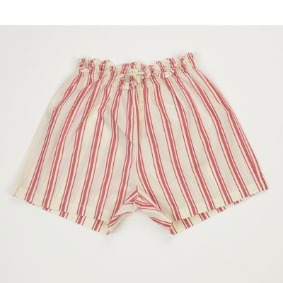 Baby Shorts Natural/Red Stripes by Babe & Tess