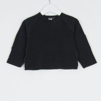 Baby Sweatshirt Kinya Charcoal Marron Patches by Album di Famiglia