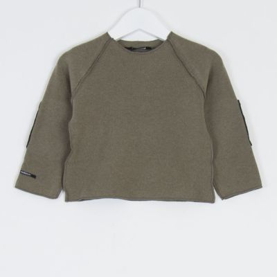 Baby Sweatshirt Kinya Marron Glace Charcoal Patches by Album di Famiglia