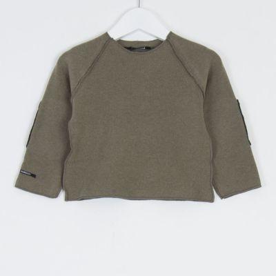 Baby Sweatshirt Kinya Marron Glace Charcoal Patches by Album di Famiglia-3M