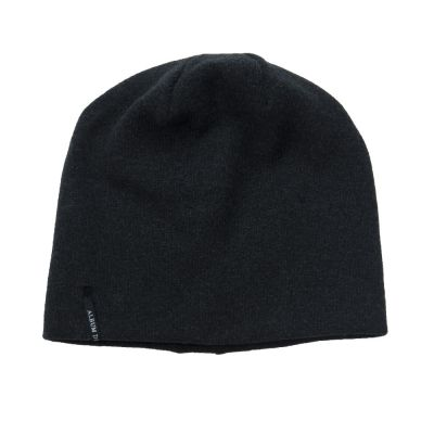 Soft Jersey Baby Hat Almost Black-3M