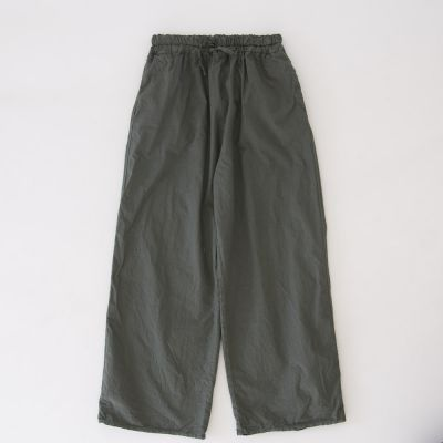 Baby Light Cotton Canvas Trousers Olive by Album di Famiglia