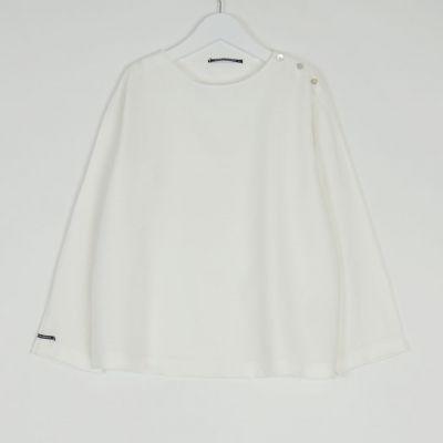 Soft Canvas Shirt Marius Milk by Album di Famiglia-4Y
