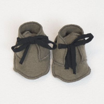 Soft Jersey Baby Booties  Marron Glace by Album di Famiglia