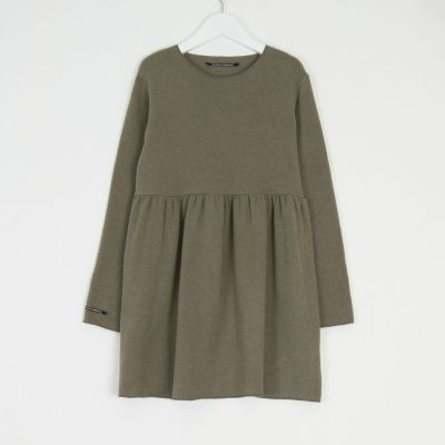 Soft Jersey Baby Dress Norry Marron Glace by Album di Famiglia-24M