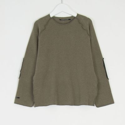 Sweatshirt Kinya Marron Glace Charcoal Patches by Album di Famiglia
