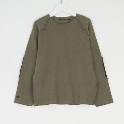 Sweatshirt Kinya Marron Glace Charcoal Patches by Album di Famiglia-4Y
