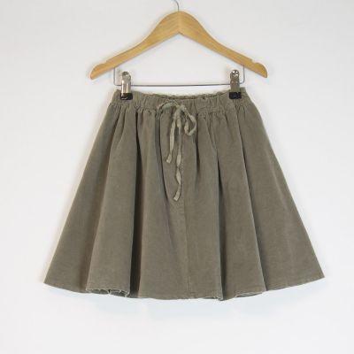 Velvet Skirt Vicky Marron Glace by Album di Famiglia