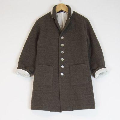 Woolen Coat Marron Glace by Album di Famiglia