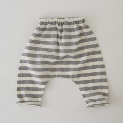 Baby Trousers Piri Grey/White Stripes by Anja Schwerbrock-3M