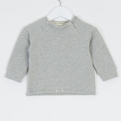 Baby Organic Cotton Pullover Luli Grey Marl by Anja Schwerbrock