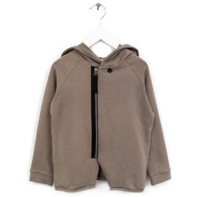 Baby Organic Cotton Hoodie Lavoni Brown by Anja Schwerbrock