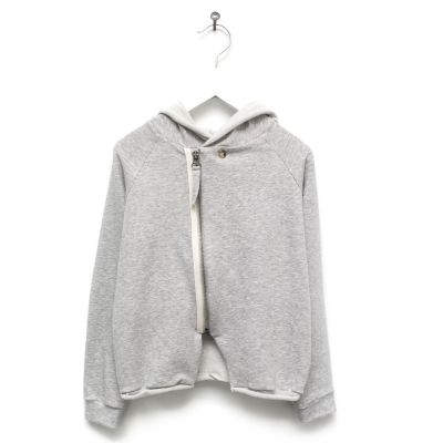 Baby Hooded Cardigan Lavoni Grey Marl by Anja Schwerbrock