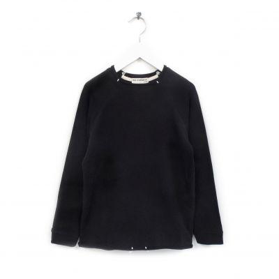 Organic Cotton Sweater Luli Black by Anja Schwerbrock-4Y