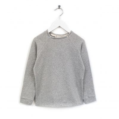 Organic Cotton Sweater Luli Grey Marl by Anja Schwerbrock-4Y