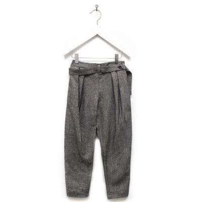 Oversized Trousers Pero Herringbone by Anja Schwerbrock-4Y