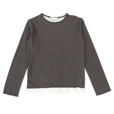 T-Shirt Bari Charcoal Ivory by Anja Schwerbrock-4Y