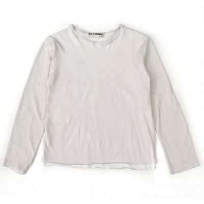 T-Shirt Bari Cloud Grey Milk White by Anja Schwerbrock-4Y