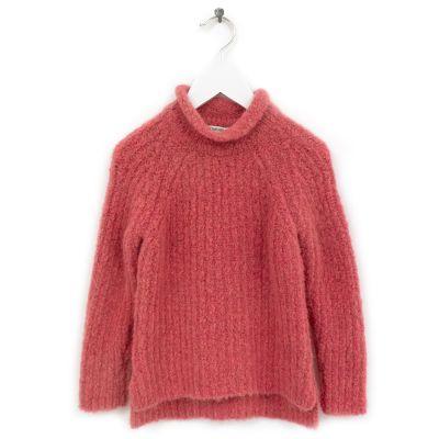 Woolen Pullover Loroni Coral by Anja Schwerbrock
