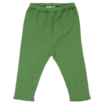 Cotton and Linen Leggings Green by Babe & Tess