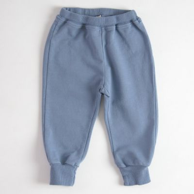 Baby Soft Jersey Trousers Blue by Babe & Tess-3M
