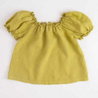Linen Capri Top Mustard by Babe & Tess-4Y