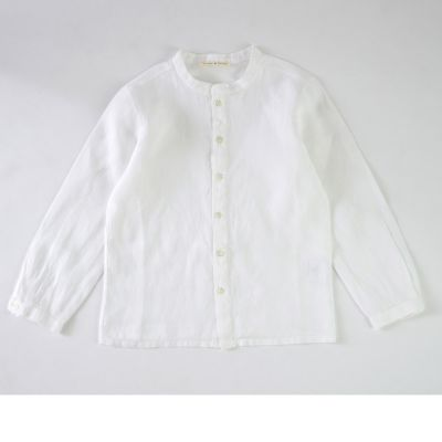 Baby Linen Shirt Coreana White by Babe & Tess