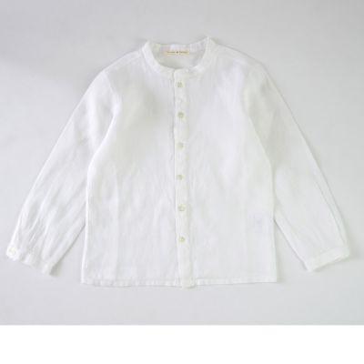 Baby Linen Shirt Coreana White by Babe & Tess-3M