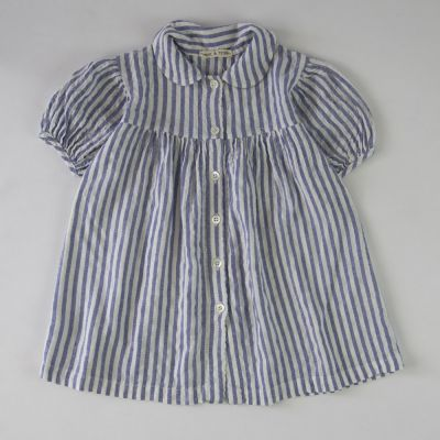 Baby Dress Morie Blue/White Stripes by Babe & Tess-3M