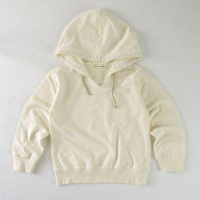 Baby Soft Jersey Hoodie Ecru by Babe & Tess-3M