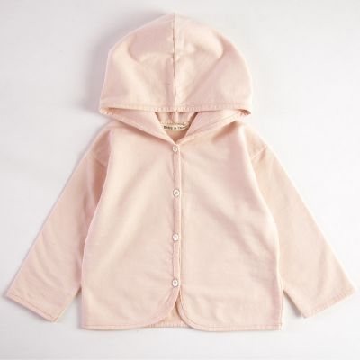 Baby Hooded Cardigan Light Pink by Babe & Tess