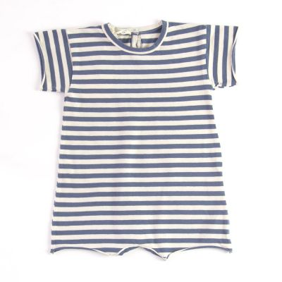 Baby Overall Blue Stripes by Babe & Tess-3M