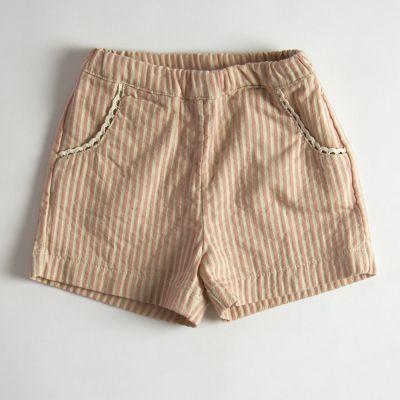 Shorts Rose/Ecru Stripes by Babe & Tess-4Y