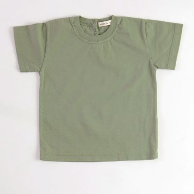 Baby Basic T-Shirt Khaki by Babe & Tess-3M