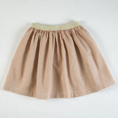 Skirt Rose/Ecru Stripes by Babe & Tess-4Y