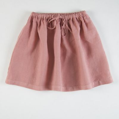 Linen Skirt Rose by Babe & Tess-4Y