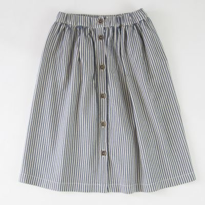 Midi Skirt Blue/Ecru Stripes by Babe & Tess