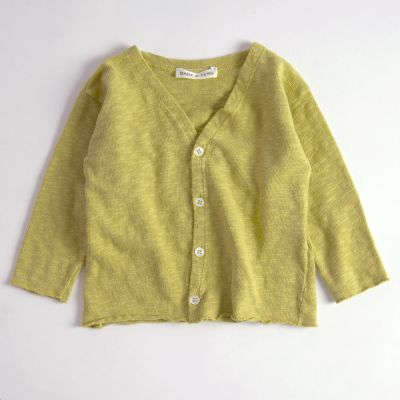 Baby Cotton Cardigan Mustard by Babe & Tess