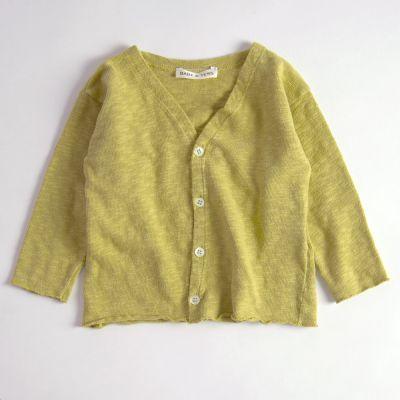 Baby Cotton Cardigan Mustard by Babe & Tess-3M