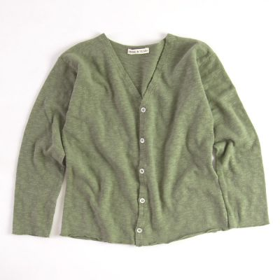 Cotton Cardigan Khaki by Babe & Tess