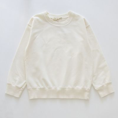 Baby Soft Jersey Sweater Ecru by Babe & Tess