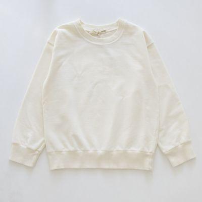 Baby Soft Jersey Sweater Ecru by Babe & Tess-6M