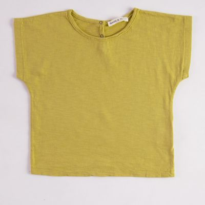 Baby Simple T-Shirt Mustard by Babe & Tess-3M