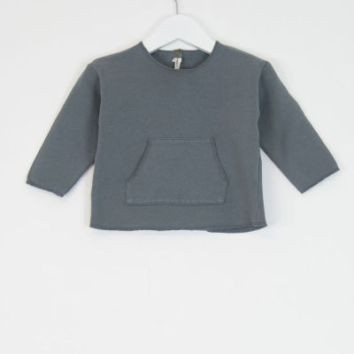 Baby Basic Sweatshirt Azur by Babe & Tess-3M